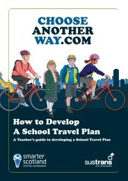 develop a School Travel Plan - Choose Another Way