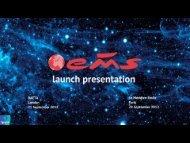 EMS Launch 2012 part 1