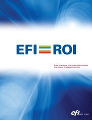 Print Solutions, Services and Support that Equal Business ... - EFI