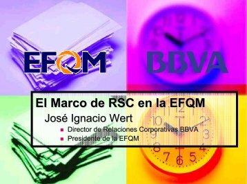 El Marco de RSC en la EFQM - Euskalit