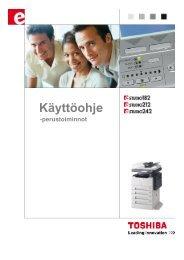 e-Studio165-205 käyttöohje - Toshiba Tec Nordic