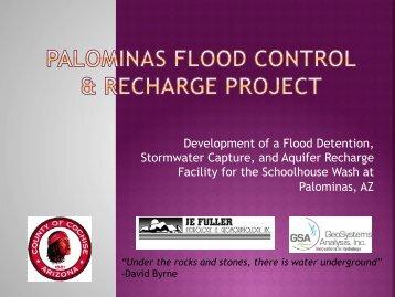 Development of a Flood Detention, Stormwater Capture, and Aquifer ...