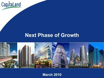 "CL: Presentation slides -""Next Phase of Growth"""