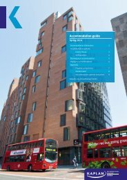 accommodation options in London - Kaplan International Colleges