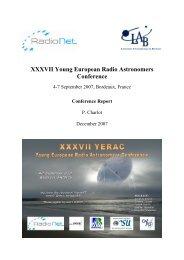 XXXVII Young European Radio Astronomers Conference - RadioNet