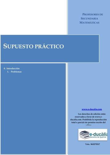 SUPUESTO PRÁCTICO - E-ducalia.com