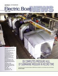EB News April 2009 - Electric Boat Corporation