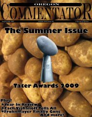 The Summer Issue (.pdf) - Oregon Commentator