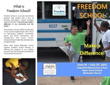 FREEDOM SCHOOL - Myers Park United Methodist Church