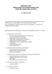 Appendix to the Memorandum of Understanding of the BGO ... - Infn