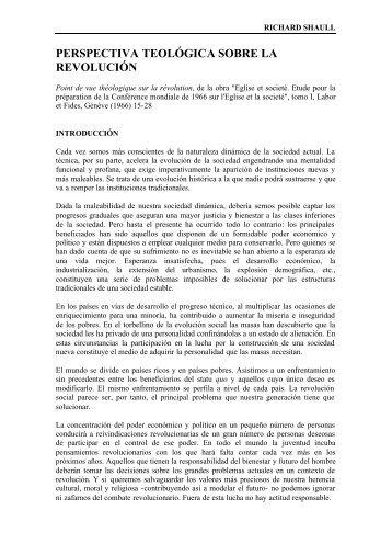 PERSPECTIVA TEOLÓGICA SOBRE LA REVOLUCIÓN - Selecciones