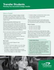 Transfer Students - Form AD11 - College Foundation of North Carolina