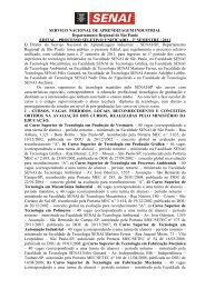 Edital - 2 S 2011- Versão Completa-Internet - Faculdades - Senai