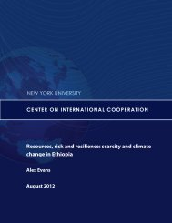 Resources, risk and resilience: scarcity and climate change in Ethiopia
