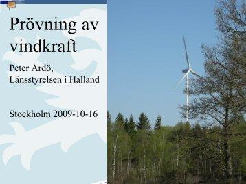 Prövning av vindkraft