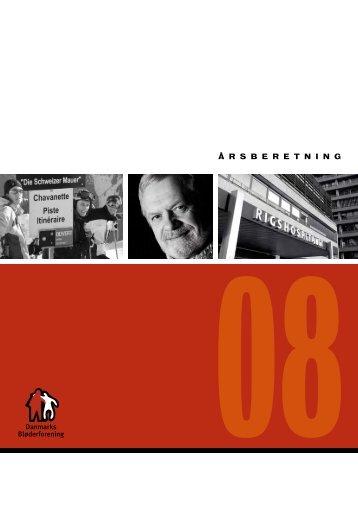 Årsberetning 2008 - Danmarks Bløderforening.