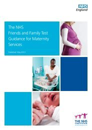 The NHS Friends and Family Test Guidance for ... - NHS England