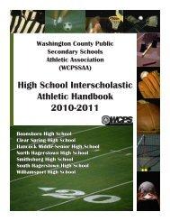 Athletics Handbook - Washington County, MD Public Schools