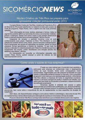 25/04 SicomércioNews Abril de 2012 - Sicomércio - Três Rios / RJ