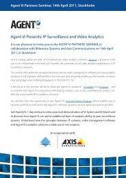 Agent Vi Presents: IP Surveillance and Video Analytics