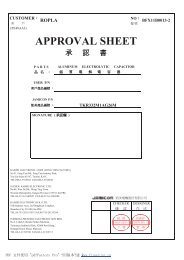 APPROVAL SHEET - Ropla Elektronik Sp. z oo