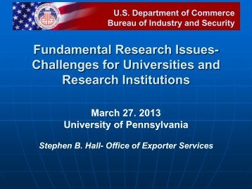 Fundamental Research Issues- Challenges for Universities and ...