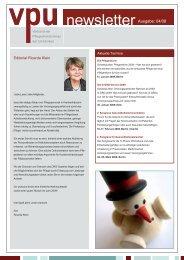 VPU-Newsletter 4. Quartal 2008