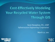 Cost-Effectively Modeling Your Recycled Water System Through GIS