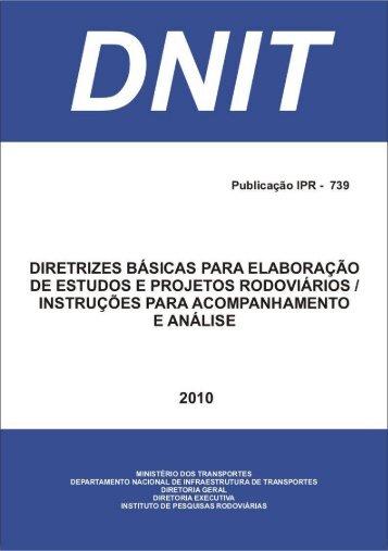 Diretrizes Básicas - Instruçoes para Acompanhamento - IPR - Dnit
