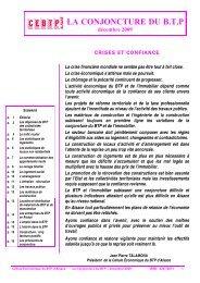 Tendances en décembre 2009 - Cellule Économique du Bâtiment et ...