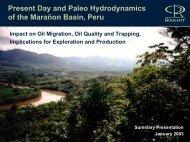 Petroleum Hydrogeology of the Marañon Basin, Peru - Canadian ...