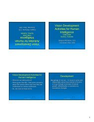 Vision Development Activities for Human Intelligence Vision ...