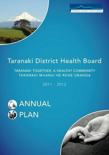 AnnuAl PlAn - Taranaki District Health Board