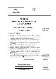 próbny egzamin maturalny z geografii poziom podstawowy - Gazeta.pl