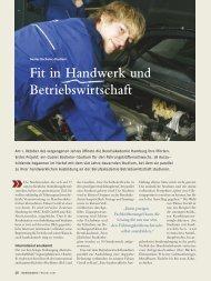 Fit in Handwerk und Betriebswirtschaft - Berufsakademie Hamburg