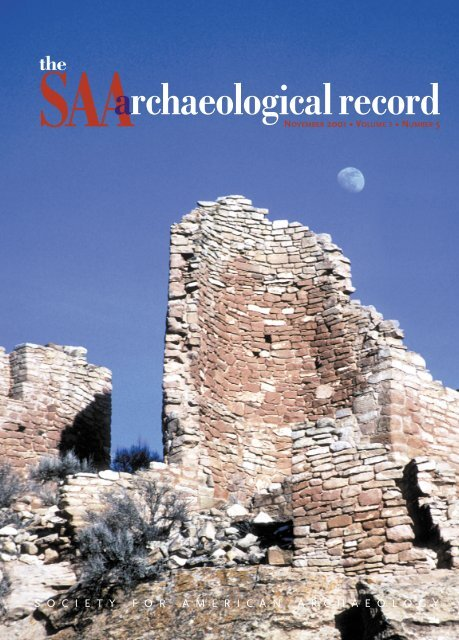 Number 5, November - Society for American Archaeology