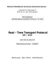 RTP/RTCP - Informatik 4