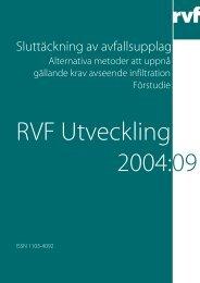 U2004:09 Sluttäckning av avfallsupplag - Avfall Sverige