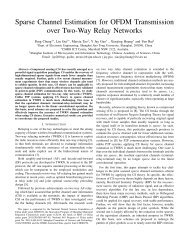 Sparse Channel Estimation for OFDM Transmission over Two-Way ...