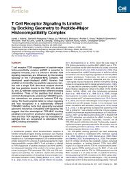 T Cell Receptor Signaling Is Limited by Docking Geometry to ...