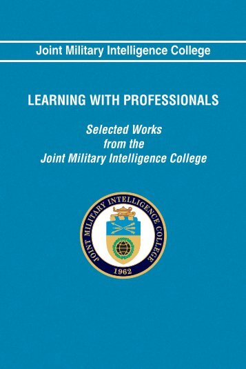 LEARNING WITH PROFESSIONALS - National Intelligence University