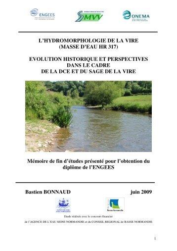 l'hydromorphologie de la vire (masse d'eau hr 317) - ENGEES