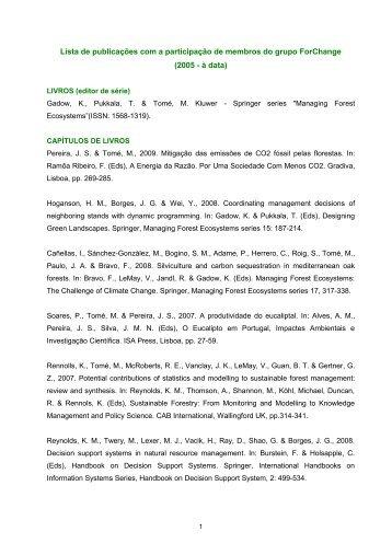 Download da lista de publicações (PDF) - Instituto Superior de ...