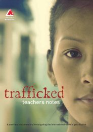 Trafficked Teachers Notes