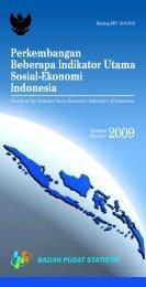 Perkembangan Beberapa Indikator Utama Sosial Ekonomi Edisi