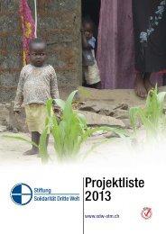36 Projekte im Jahr 201 - Solidarität Dritte Welt