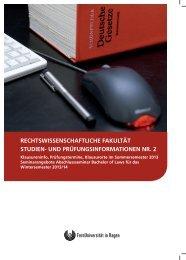 Studien- und Prüfungsinformationen Nr. 2 - FernUniversität in Hagen