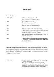 Curriculum vitae Martin Bohus - Behavioral Tech, LLC