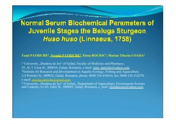 Normal Serum Biochemical Parametres of ... - DANUBEPARKS