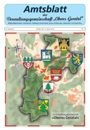 Amtsblatt Nr.: 01 vom 10. Januar 2014 - VG Oberes Geratal